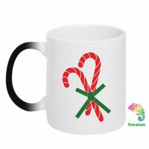 Kubek-kameleon Cukierki z trzciny bożonarodzeniowej