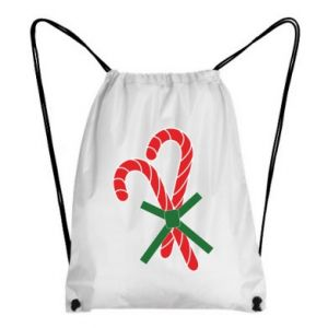 Backpack-bag Christmas Cane Candies