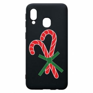 Phone case for Samsung A40 Christmas Cane Candies