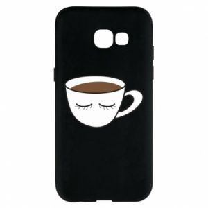 Phone case for Samsung A5 2017 Cup of coffee with closed eyes - PrintSalon