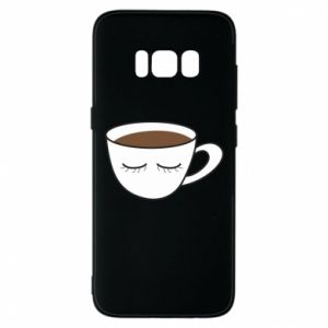 Phone case for Samsung S8 Cup of coffee with closed eyes