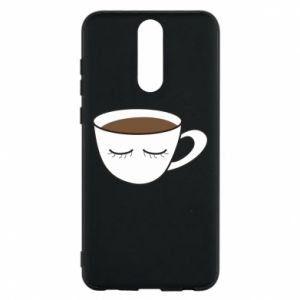 Phone case for Huawei Mate 10 Lite Cup of coffee with closed eyes - PrintSalon