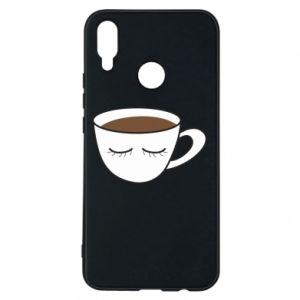 Phone case for Huawei P Smart Plus Cup of coffee with closed eyes