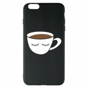 Phone case for iPhone 6 Plus/6S Plus Cup of coffee with closed eyes