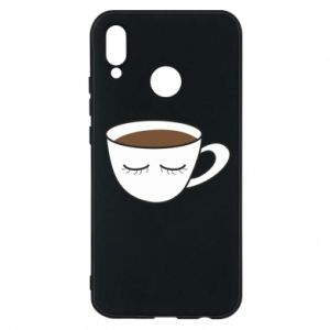 Phone case for Huawei P20 Lite Cup of coffee with closed eyes