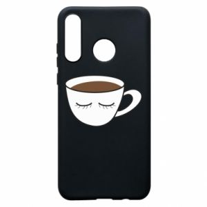 Etui na Huawei P30 Lite Cup of coffee with closed eyes