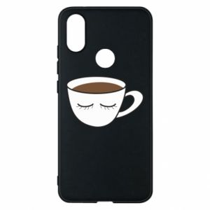Phone case for Xiaomi Mi A2 Cup of coffee with closed eyes