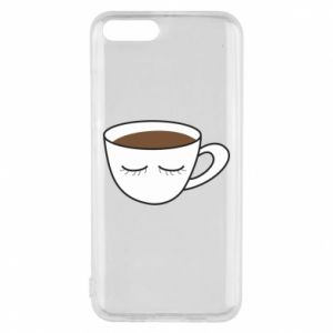 Etui na Xiaomi Mi6 Cup of coffee with closed eyes