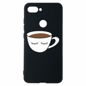 Phone case for Xiaomi Mi8 Lite Cup of coffee with closed eyes - PrintSalon