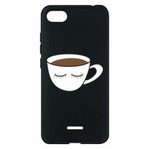 Phone case for Xiaomi Redmi 6A Cup of coffee with closed eyes - PrintSalon