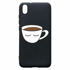 Phone case for Xiaomi Redmi 7A Cup of coffee with closed eyes - PrintSalon