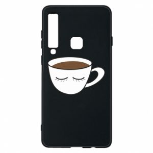 Phone case for Samsung A9 2018 Cup of coffee with closed eyes - PrintSalon