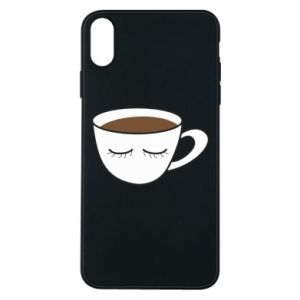 Etui na iPhone Xs Max Cup of coffee with closed eyes