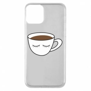 Etui na iPhone 11 Cup of coffee with closed eyes