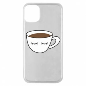 Etui na iPhone 11 Pro Cup of coffee with closed eyes
