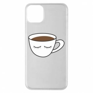 Etui na iPhone 11 Pro Max Cup of coffee with closed eyes