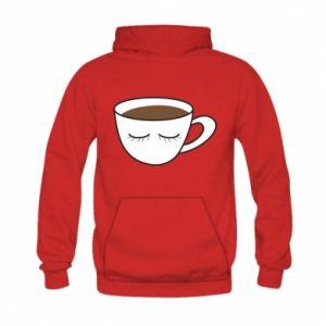 Bluza z kapturem dziecięca Cup of coffee with closed eyes