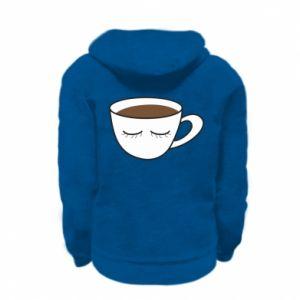 Bluza na zamek dziecięca Cup of coffee with closed eyes