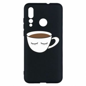 Etui na Huawei Nova 4 Cup of coffee with closed eyes