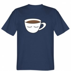T-shirt Cup of coffee with closed eyes