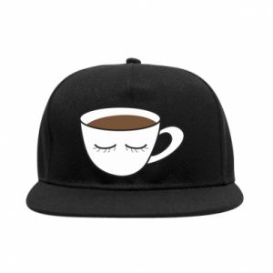 SnapBack Cup of coffee with closed eyes