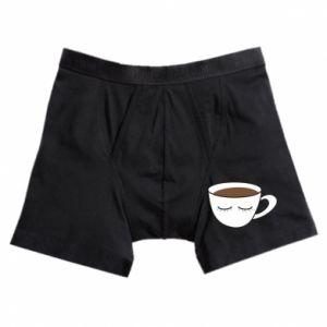 Bokserki męskie Cup of coffee with closed eyes