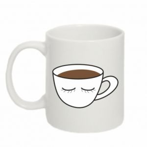 Kubek 330ml Cup of coffee with closed eyes