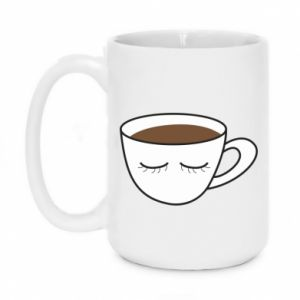 Mug 450ml Cup of coffee with closed eyes - PrintSalon