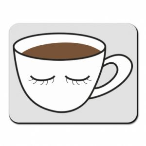 Mouse pad Cup of coffee with closed eyes - PrintSalon