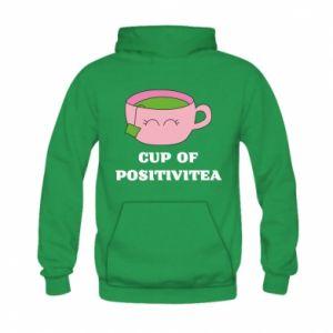 Bluza z kapturem dziecięca Cup of positivitea