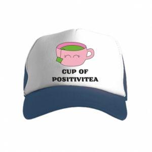 Czapka trucker dziecięca Cup of positivitea