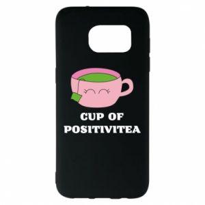 Etui na Samsung S7 EDGE Cup of positivitea