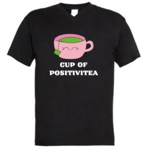 Męska koszulka V-neck Cup of positivitea