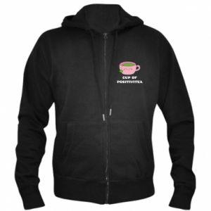 Men's zip up hoodie Cup of positivitea - PrintSalon