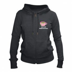 Women's zip up hoodies Cup of positivitea - PrintSalon
