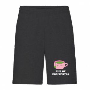 Men's shorts Cup of positivitea - PrintSalon