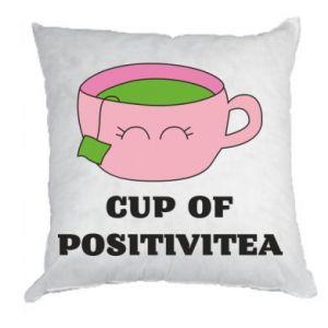 Pillow Cup of positivitea - PrintSalon