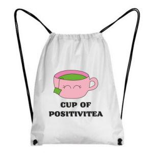 Backpack-bag Cup of positivitea - PrintSalon