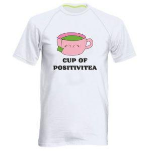 Men's sports t-shirt Cup of positivitea - PrintSalon