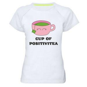Women's sports t-shirt Cup of positivitea - PrintSalon