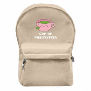 Backpack with front pocket Cup of positivitea - PrintSalon