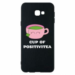 Phone case for Samsung J4 Plus 2018 Cup of positivitea - PrintSalon