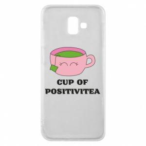 Phone case for Samsung J6 Plus 2018 Cup of positivitea - PrintSalon