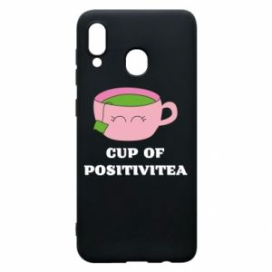 Phone case for Samsung A20 Cup of positivitea