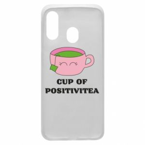 Phone case for Samsung A40 Cup of positivitea