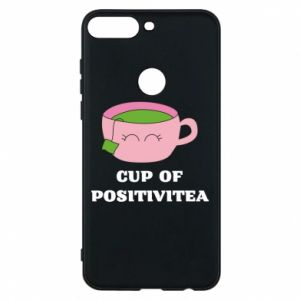 Phone case for Huawei Y7 Prime 2018 Cup of positivitea