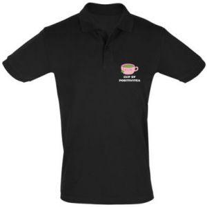 Men's Polo shirt Cup of positivitea - PrintSalon