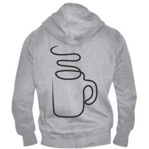 Men's zip up hoodie Cup - PrintSalon