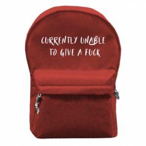 Plecak z przednią kieszenią Currently unable to give a fuck