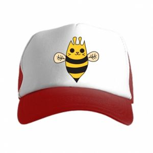 Trucker hat Cute bee smile - PrintSalon